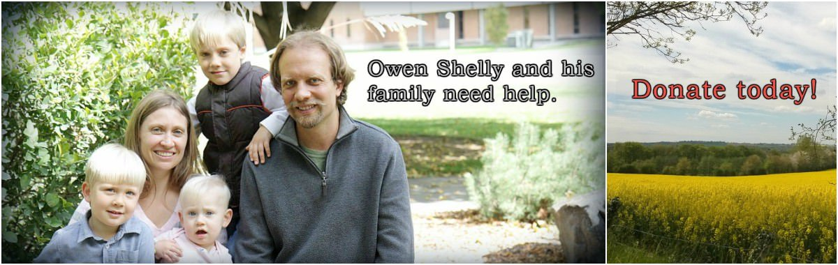 The Owen Shelly fundraising page